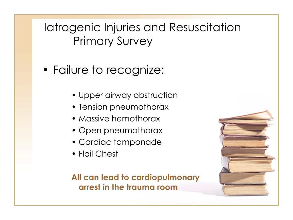 Iatrogenic Injuries and Resuscitation