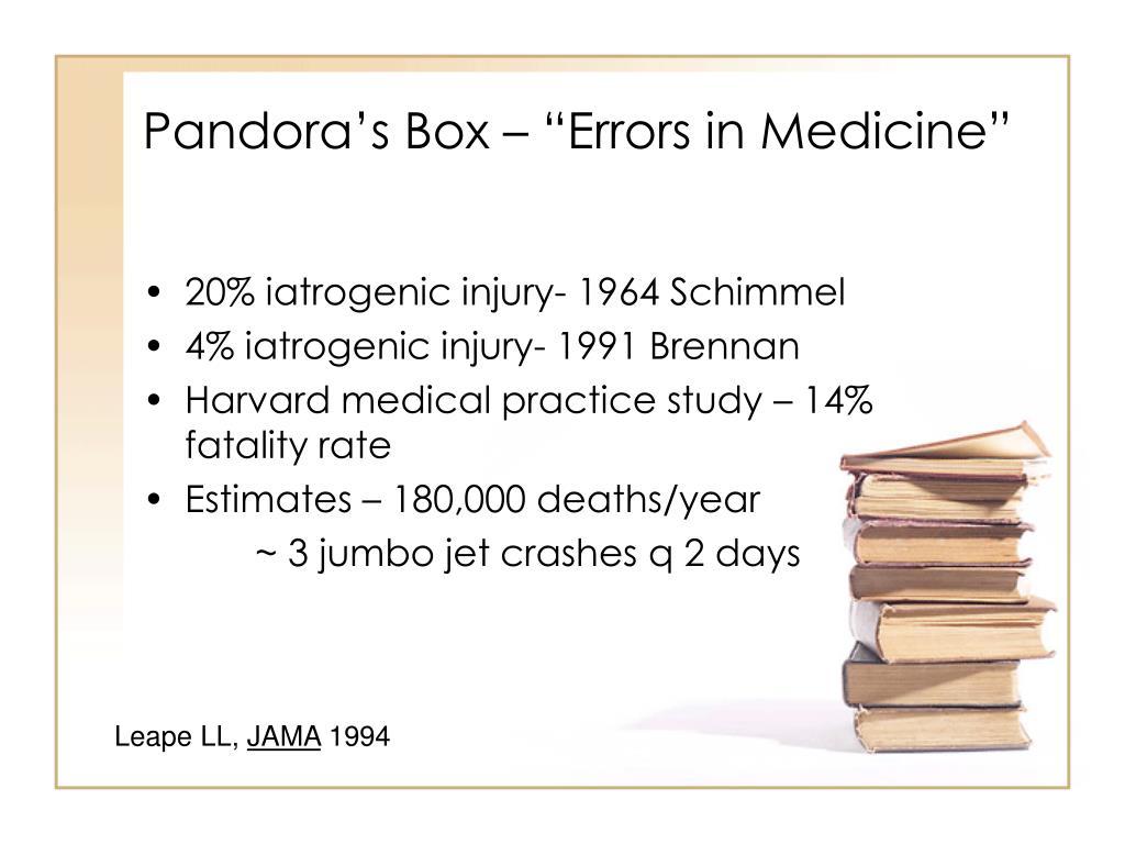 "Pandora's Box – ""Errors in Medicine"""