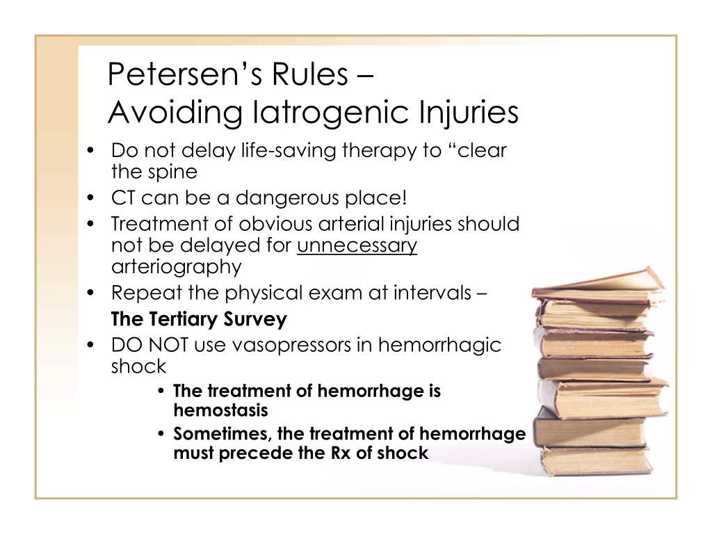 Petersen's Rules –