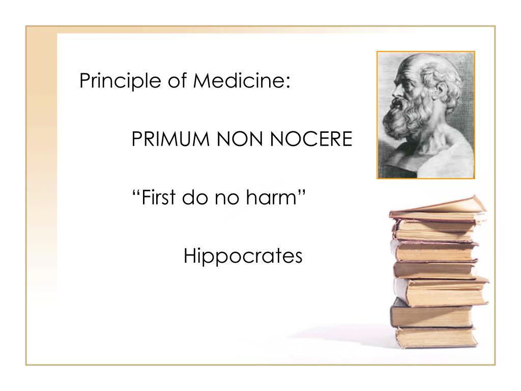 Principle of Medicine: