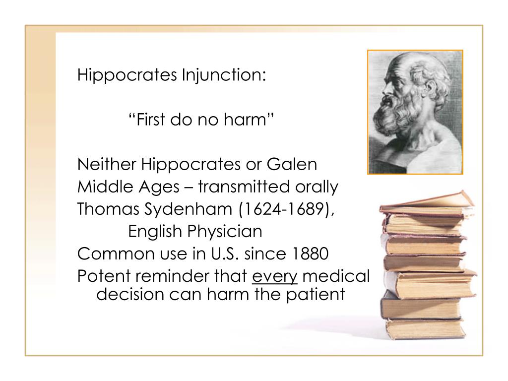 Hippocrates Injunction: