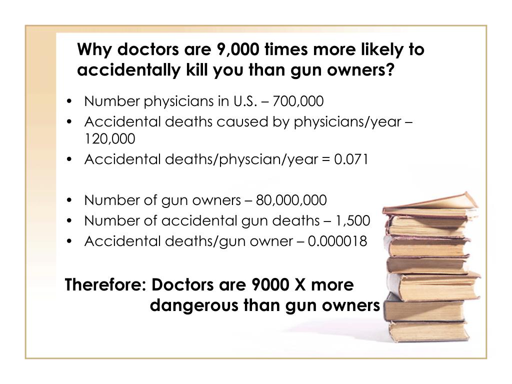 Why doctors are 9,000 times more likely to accidentally kill you than gun owners?
