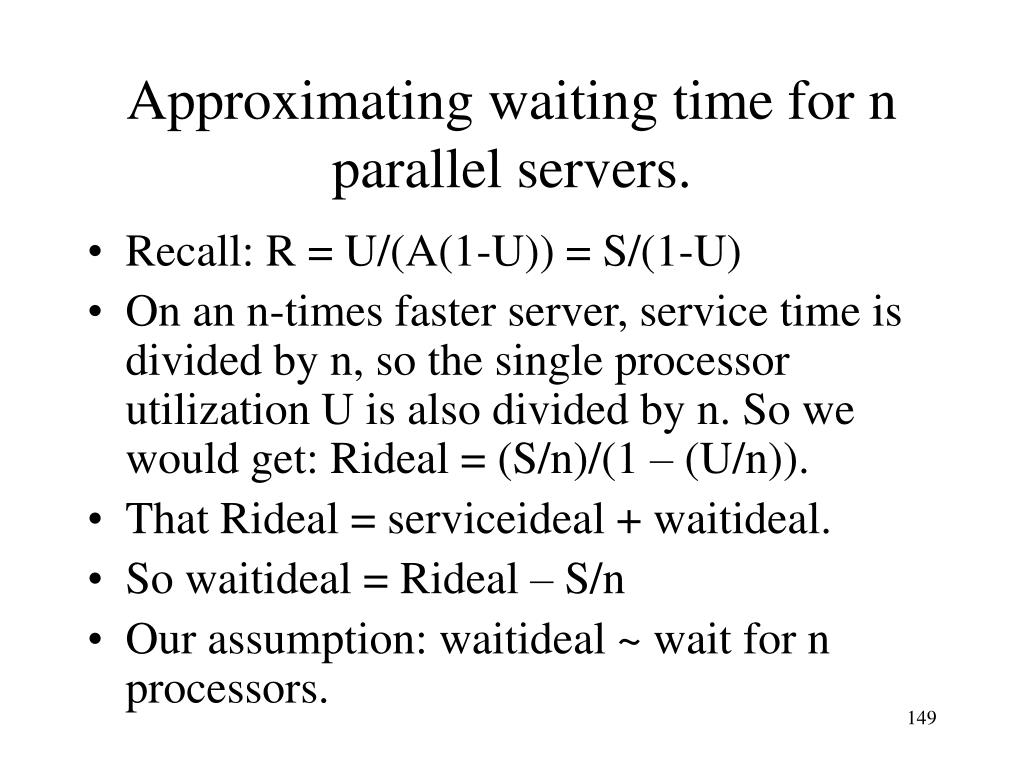 Approximating waiting time for n parallel servers.