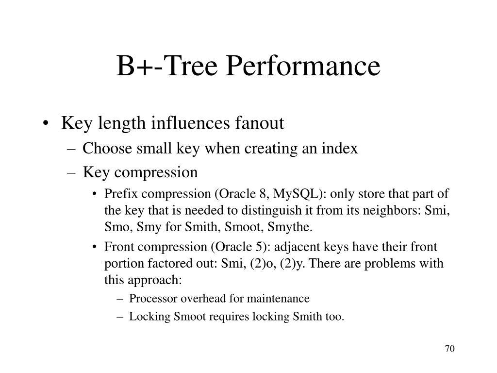 B+-Tree Performance