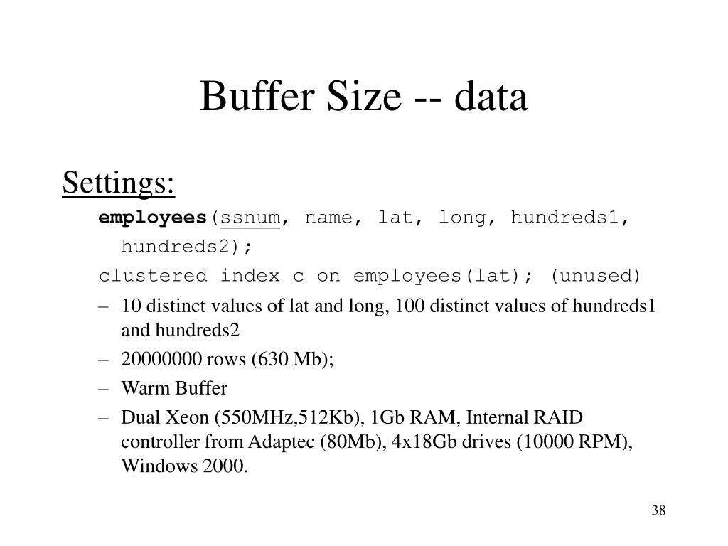 Buffer Size -- data