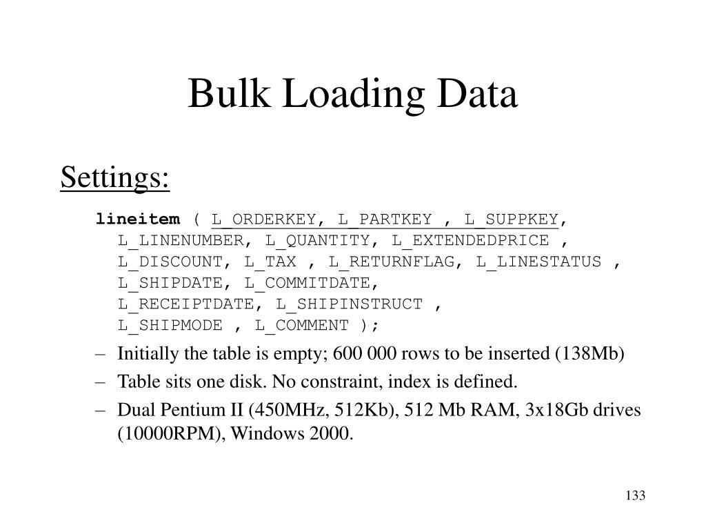 Bulk Loading Data