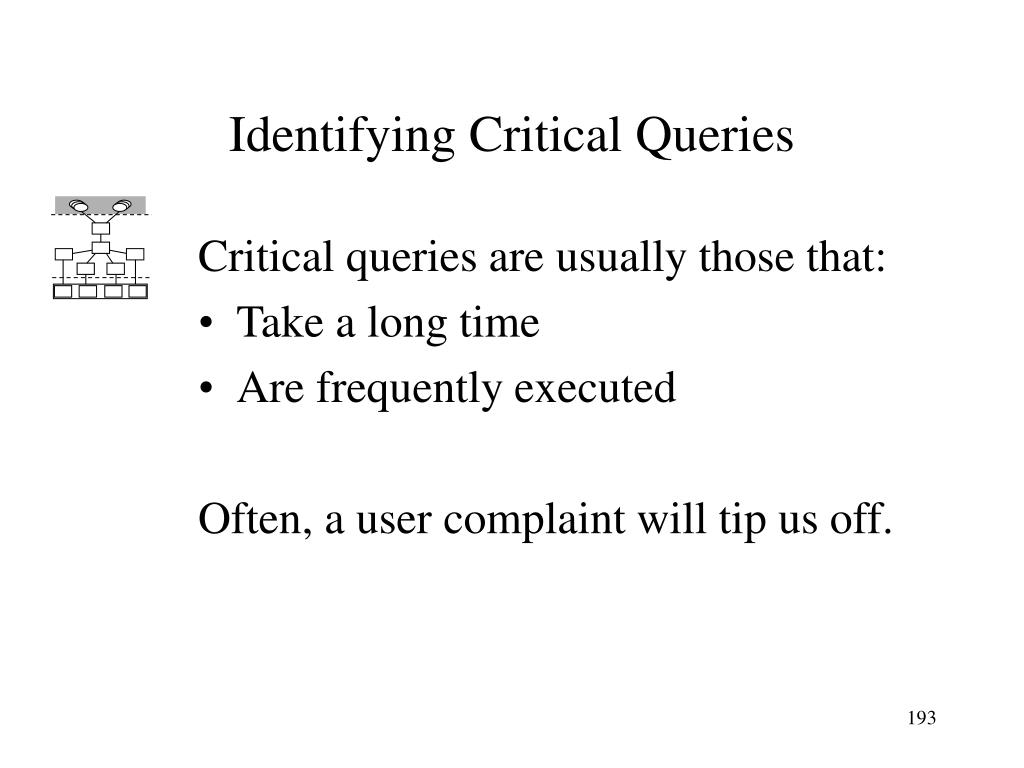 Identifying Critical Queries