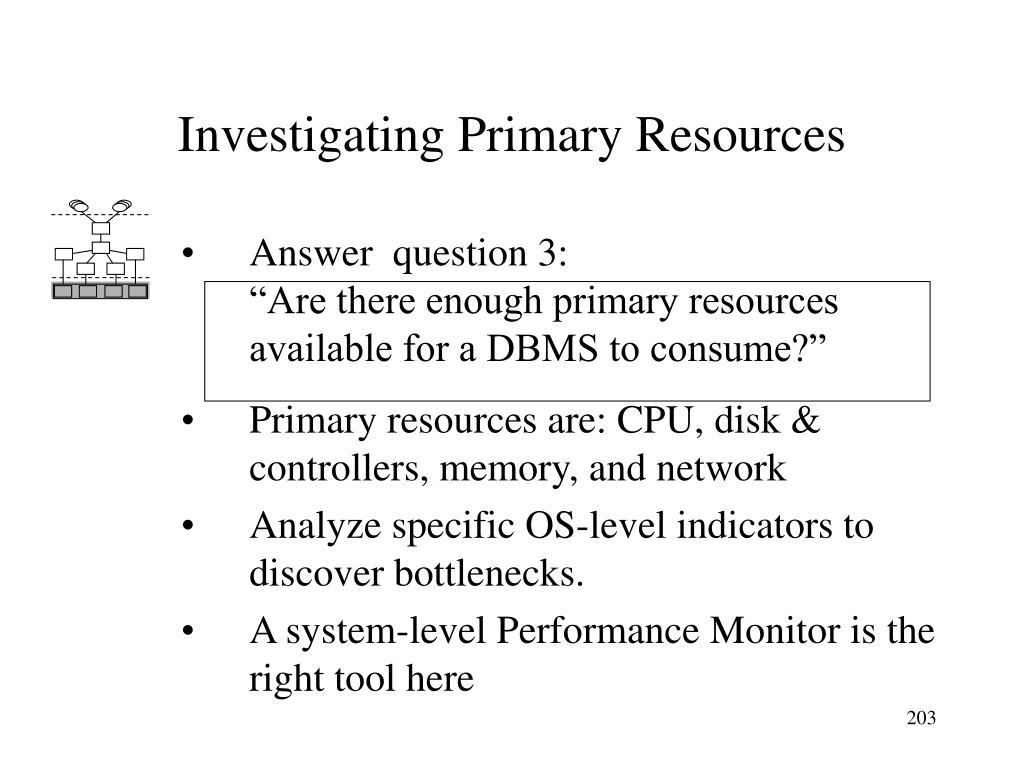 Investigating Primary Resources