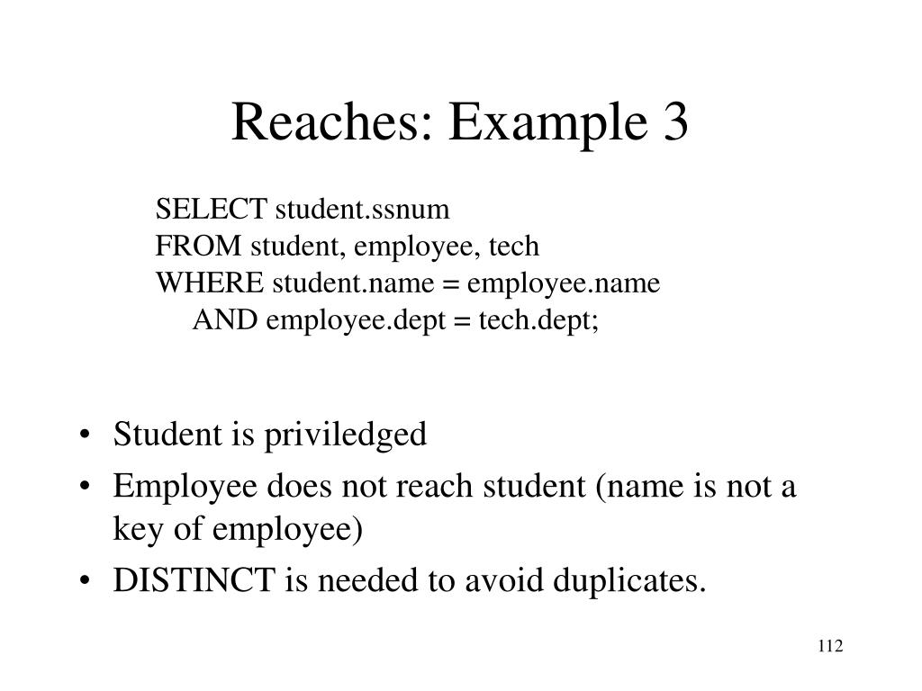 Reaches: Example 3