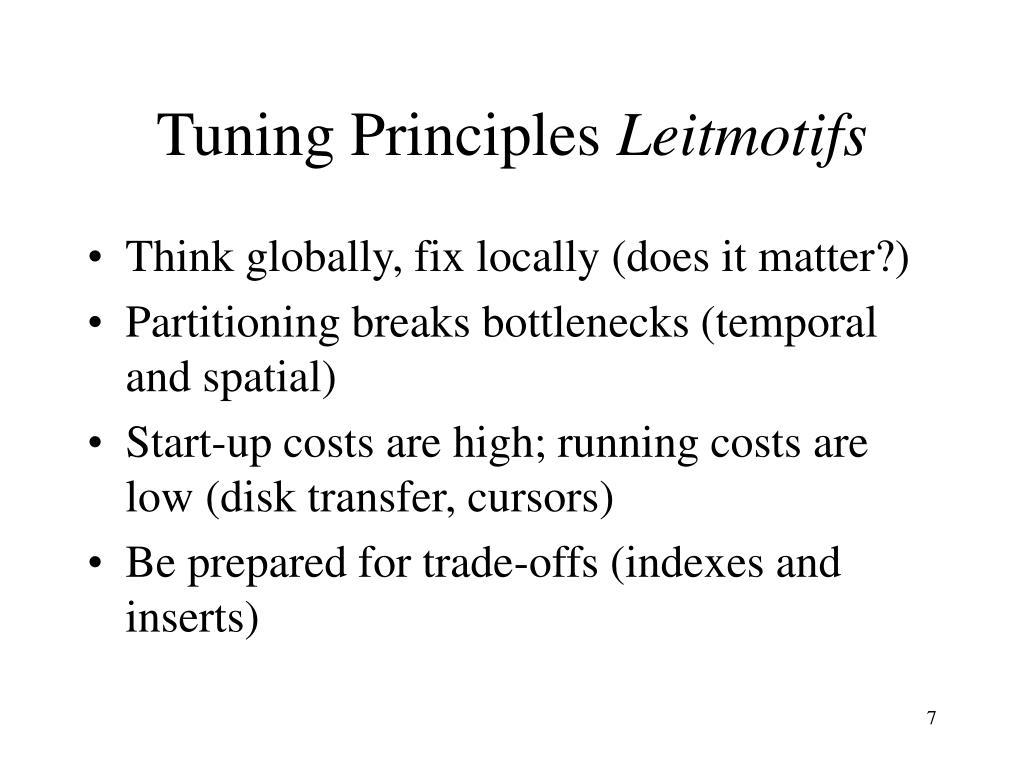 Tuning Principles