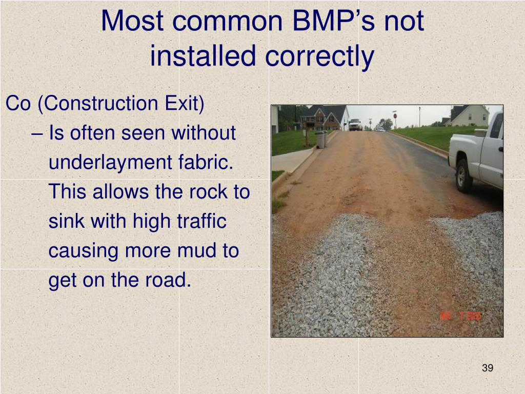 Most common BMP's not