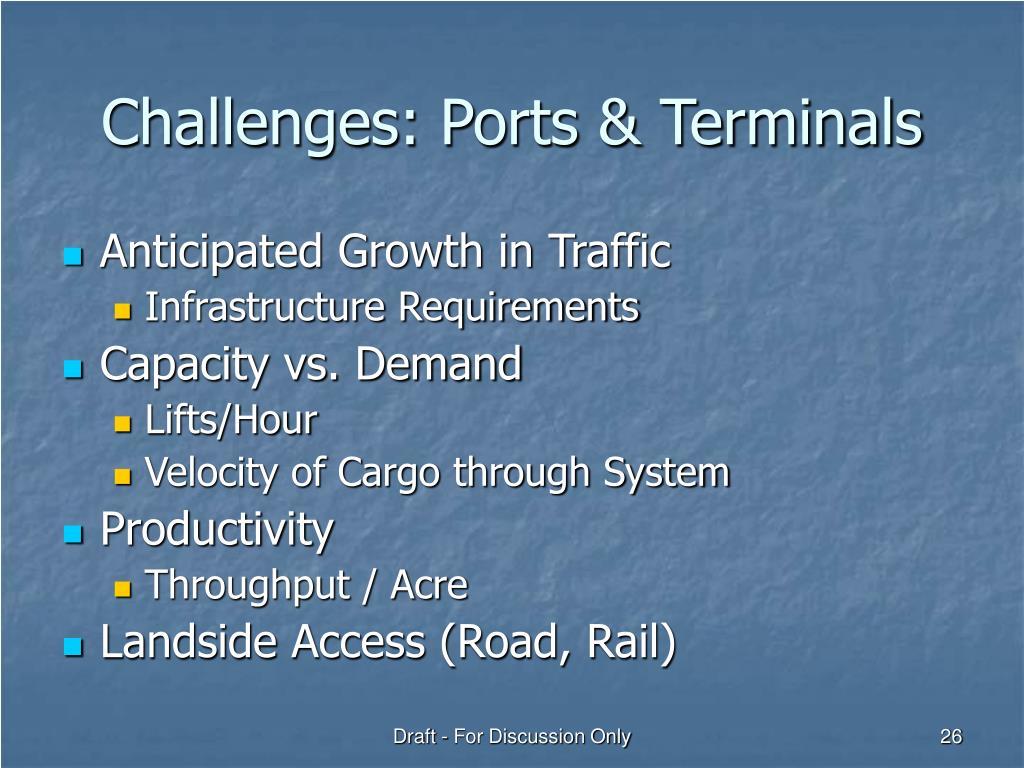 Challenges: Ports & Terminals