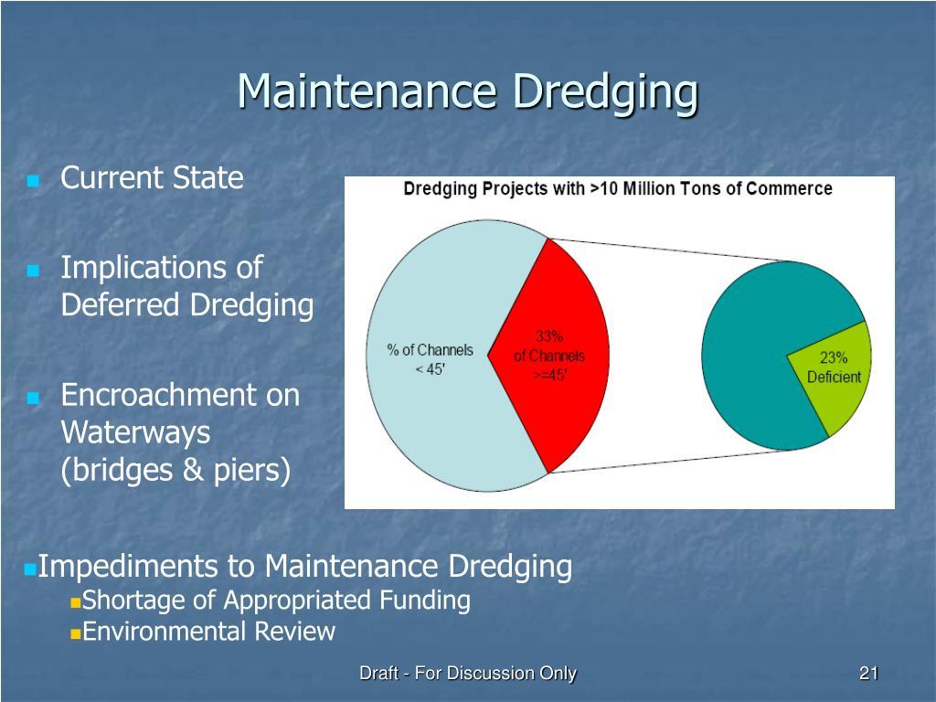 Maintenance Dredging