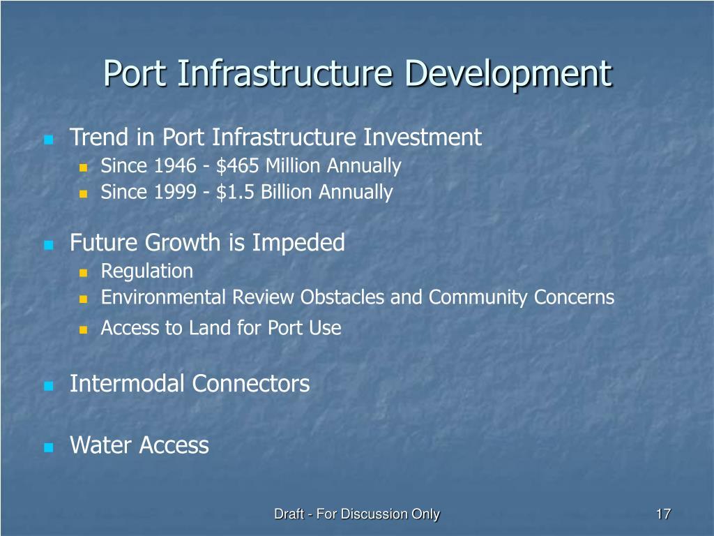 Port Infrastructure Development