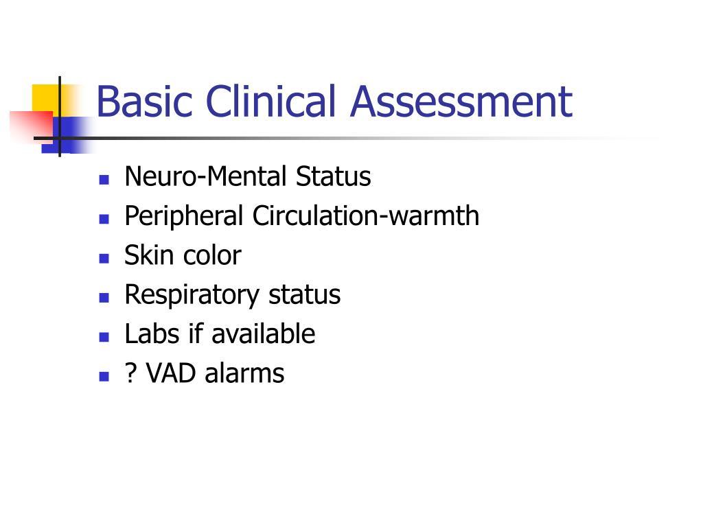 Basic Clinical Assessment