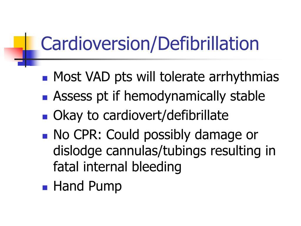 Cardioversion/Defibrillation