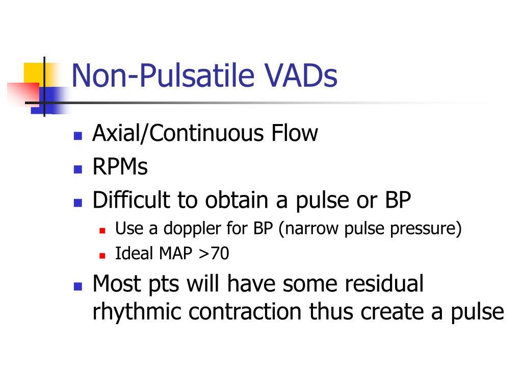 Non-Pulsatile VADs