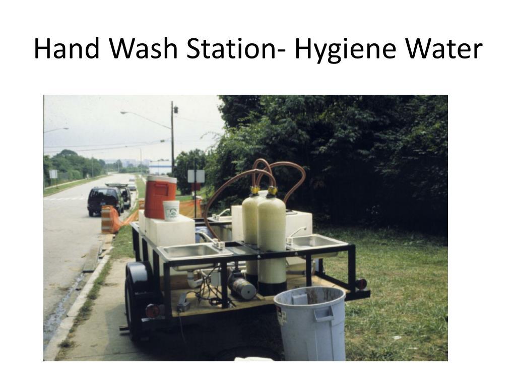 Hand Wash Station- Hygiene Water