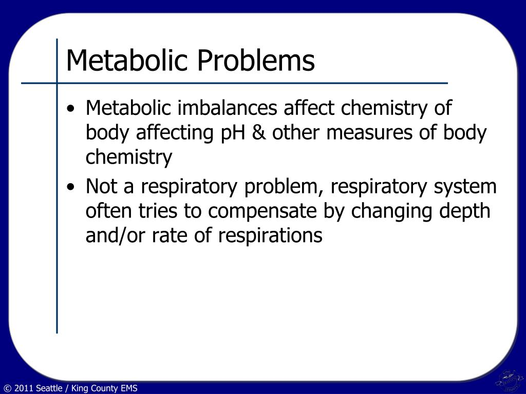Metabolic Problems