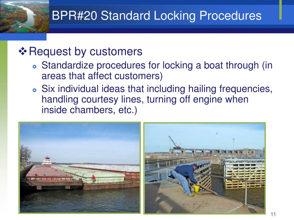 BPR#20 Standard Locking Procedures