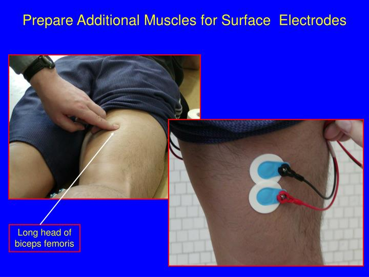 Prepare Additional Muscles for Surface  Electrodes