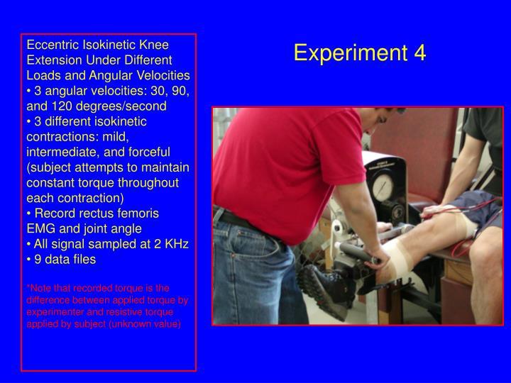 Eccentric Isokinetic Knee Extension Under Different Loads and Angular Velocities