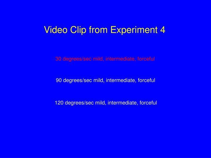 Video Clip from Experiment 4
