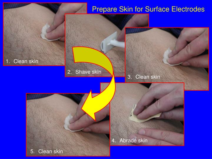 Prepare Skin for Surface Electrodes