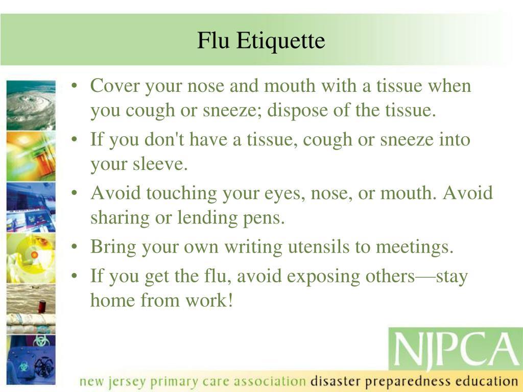 Flu Etiquette
