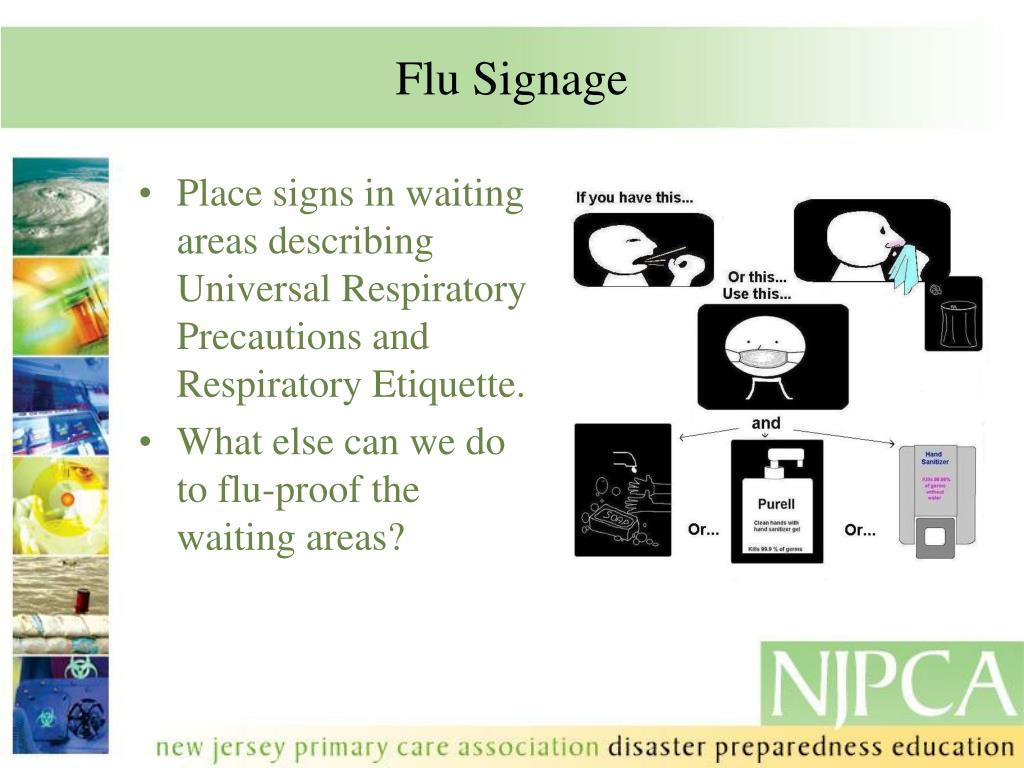 Flu Signage