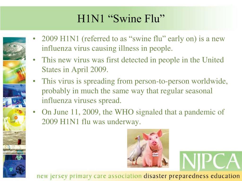 """H1N1 """"Swine Flu"""""""