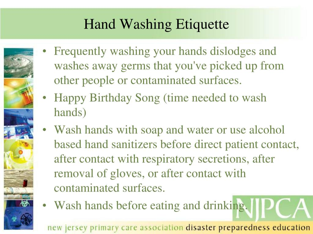 Hand Washing Etiquette