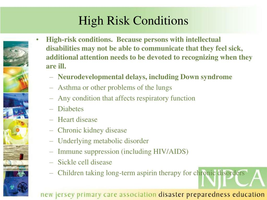 High Risk Conditions