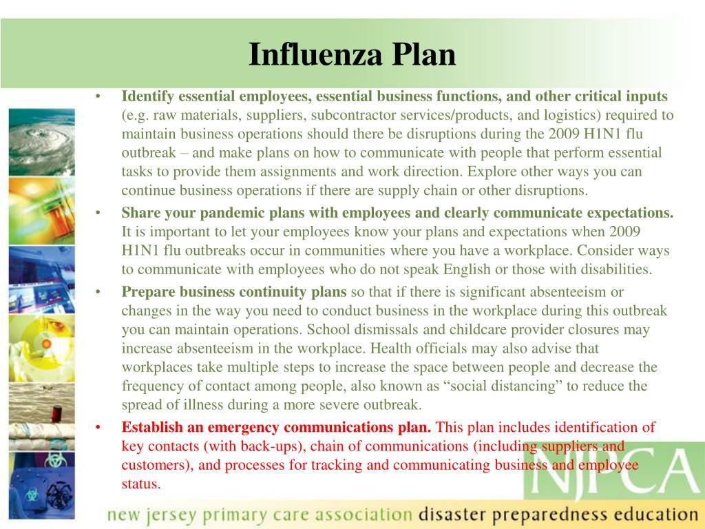 Influenza Plan