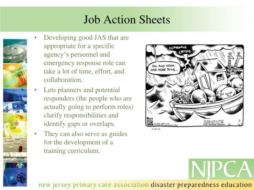 Job Action Sheets