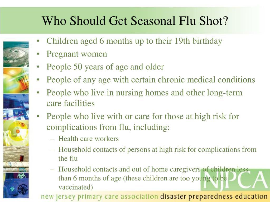 Who Should Get Seasonal Flu Shot?