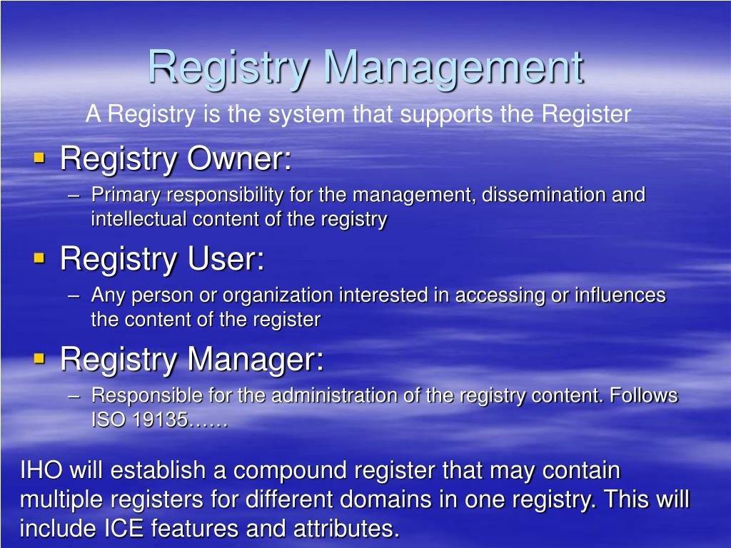Registry Management
