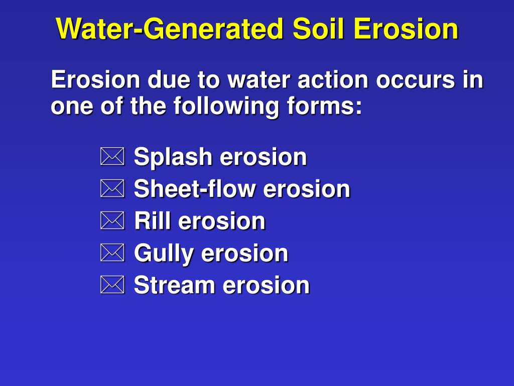 Water-Generated Soil Erosion