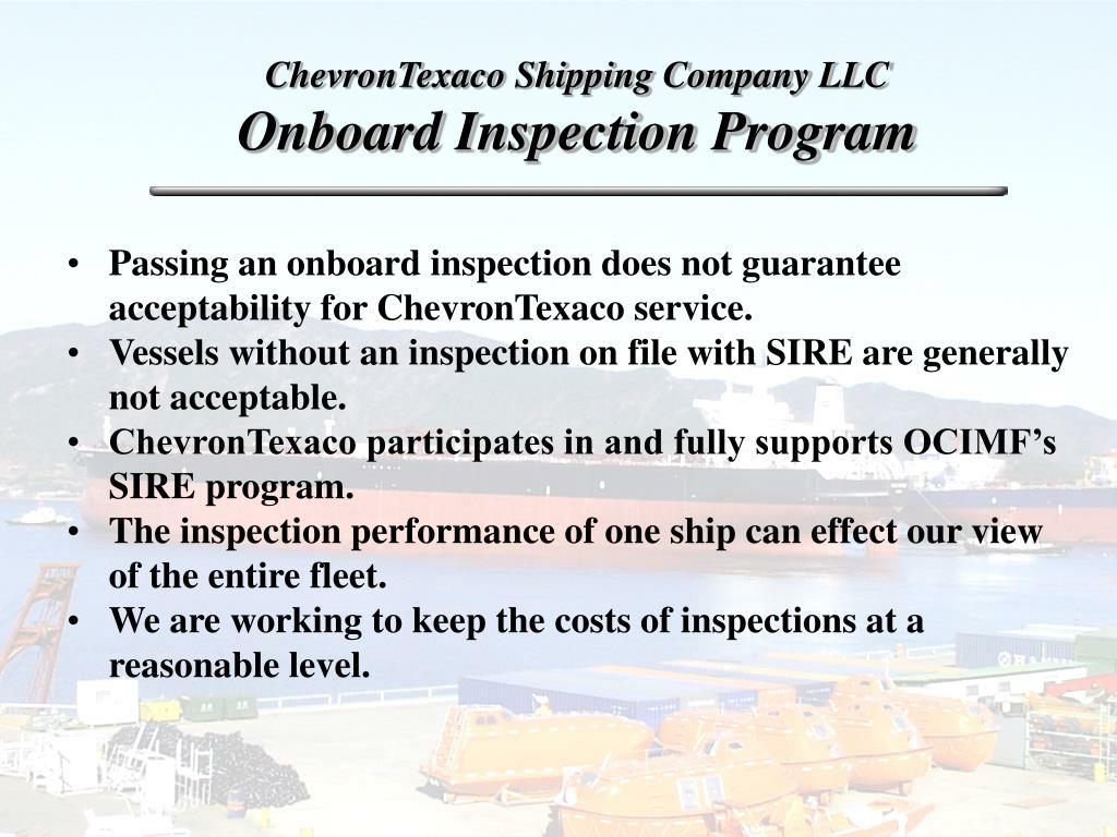 ChevronTexaco Shipping Company LLC
