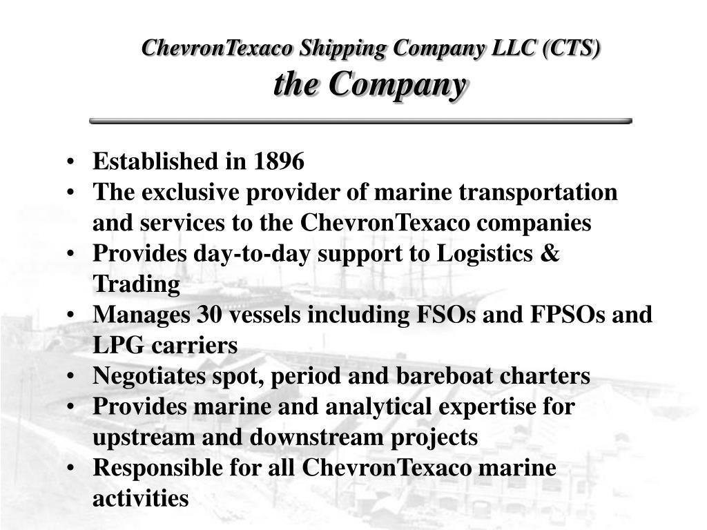 ChevronTexaco Shipping Company LLC (CTS)