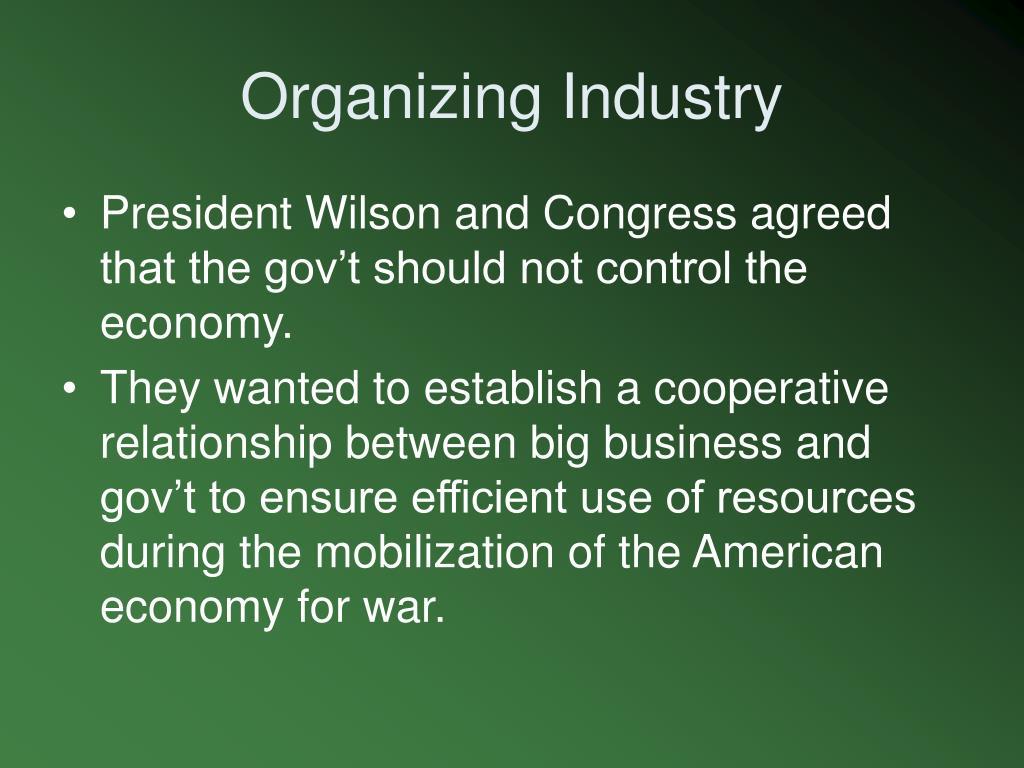 Organizing Industry