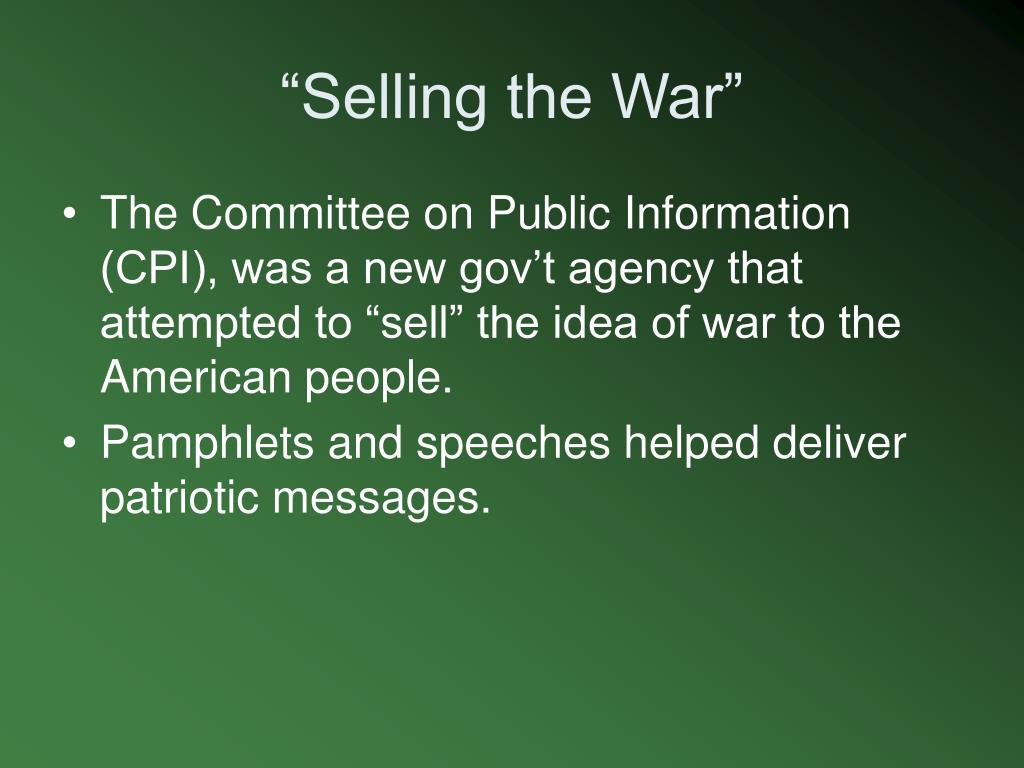 """""""Selling the War"""""""