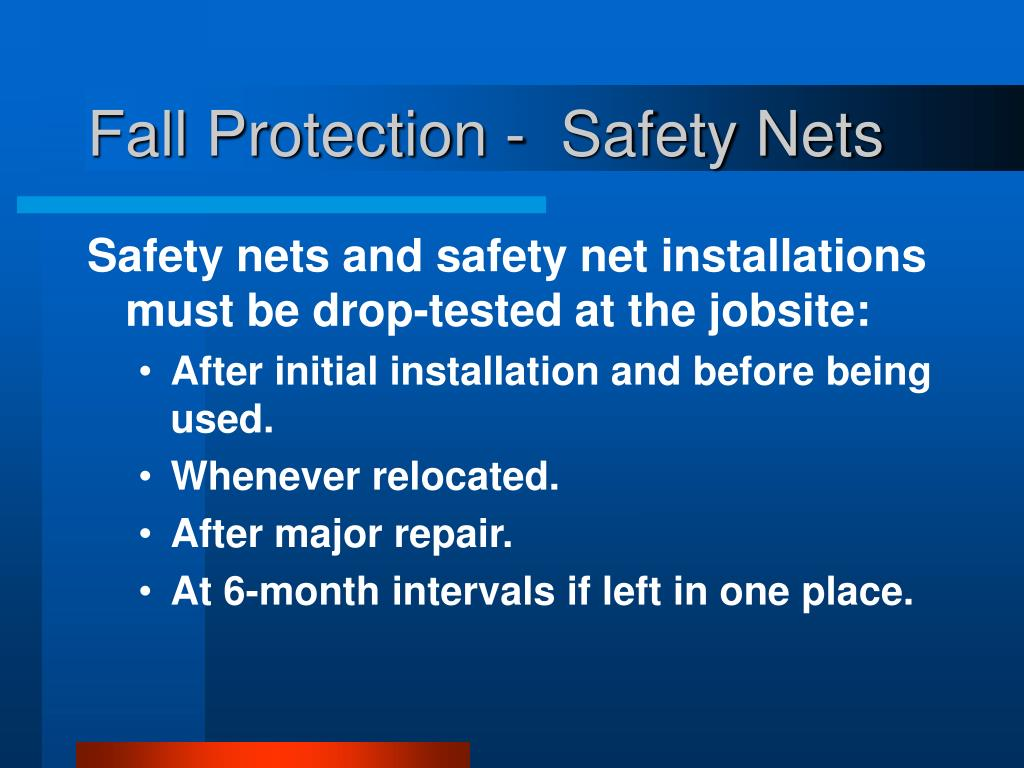 Fall Protection -  Safety Nets