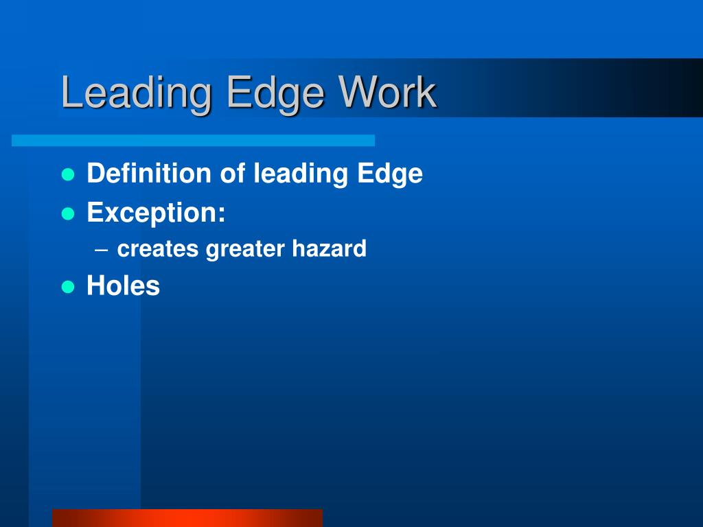 Definition of leading Edge