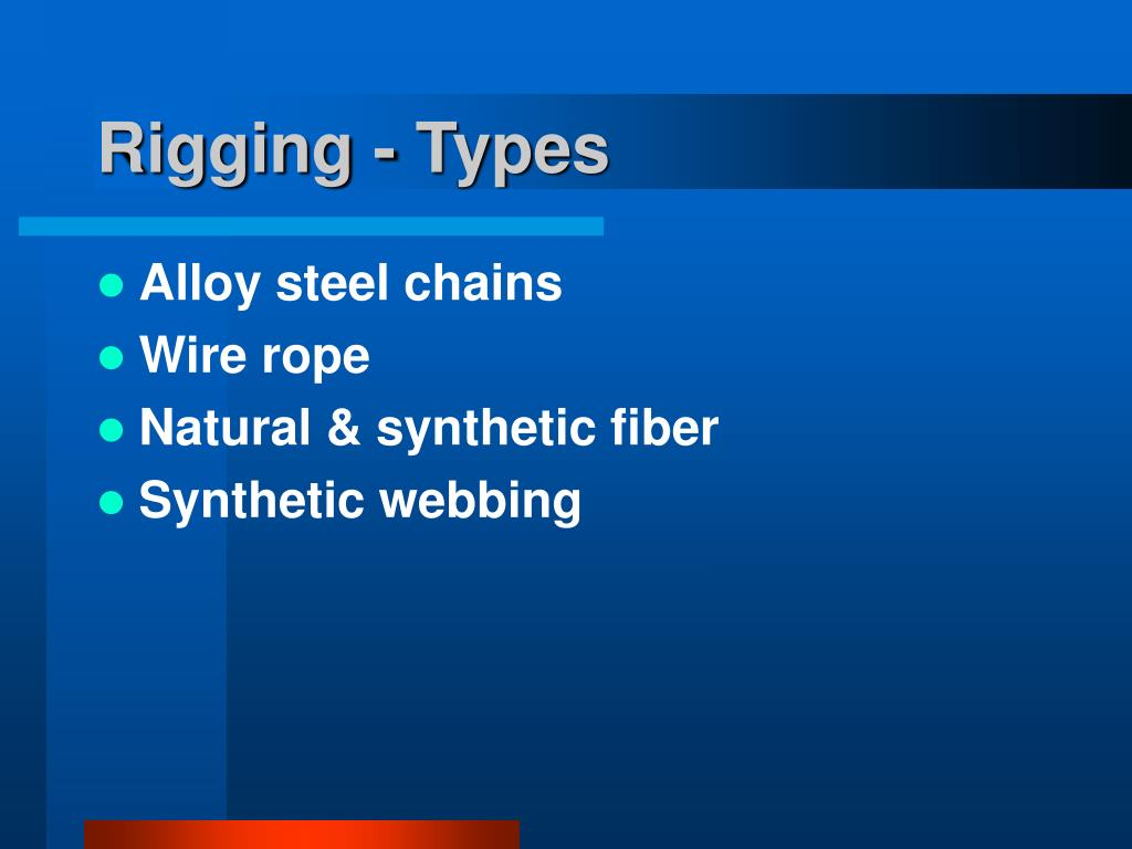 Rigging - Types