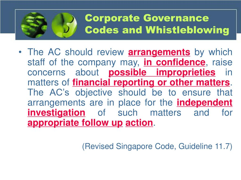 Corporate Governance Codes and Whistleblowing