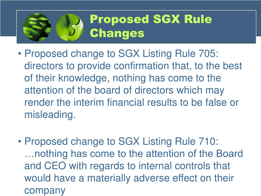 Proposed SGX Rule