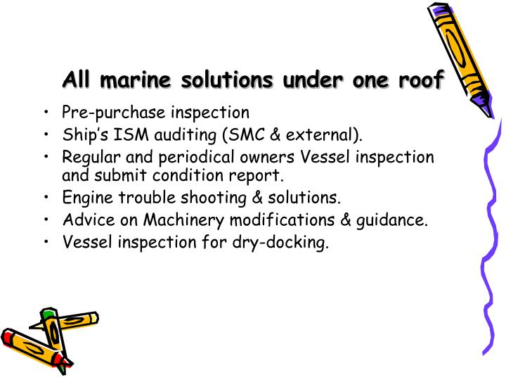 All marine solutions under one roof