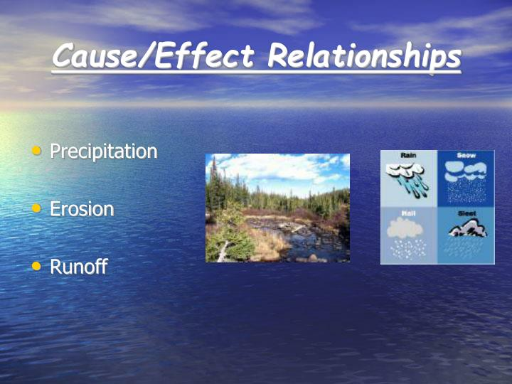 Cause/Effect Relationships