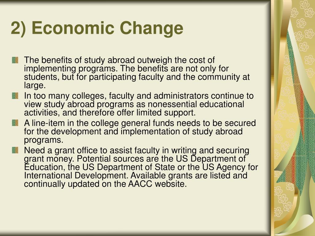 2) Economic Change